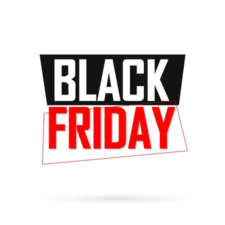 Black Friday, Sale banner design template, discount tag, app icon, vector illustration Stock fotó - 129514835