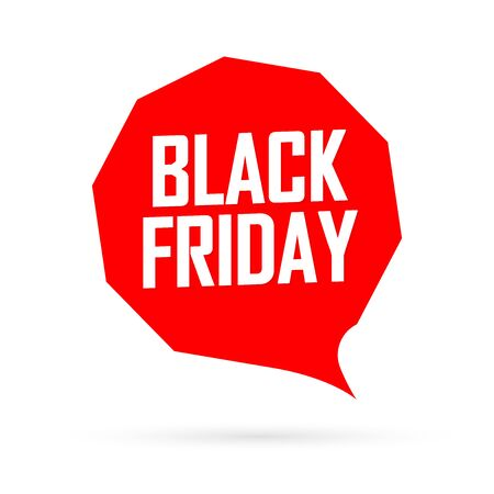 Black Friday, Sale speech bubble banner design template, final offer, mega discount tag, app icon, vector art and illustration Stock fotó - 129514842