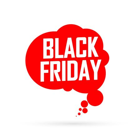 Black Friday, Sale speech bubble banner design template, final offer, mega discount tag, app icon, vector art and illustration Stock fotó - 129514846
