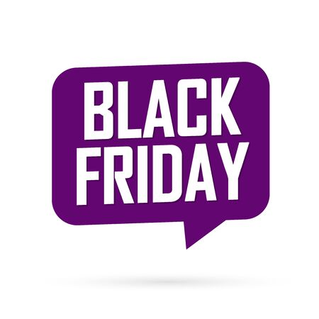 Black Friday, Sale speech bubble banner design template, final offer, mega discount tag, app icon, vector art and illustration Stock fotó - 129514843