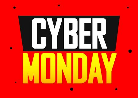 Cyber Monday Sale, poster design template, vector illustration Stock fotó - 129514848