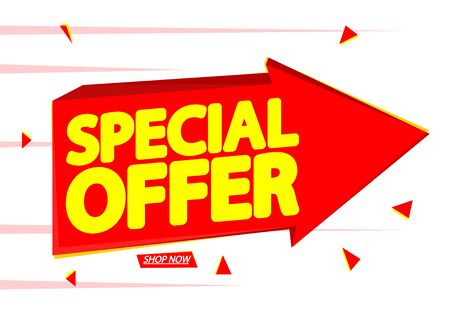 Special offer, discount tag, app icon, vector design Ilustracja