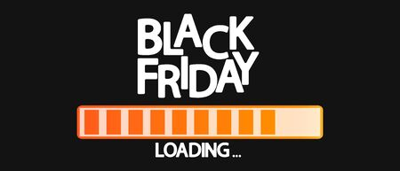 Black Friday Sale, progress loading bar design template, vector illustration