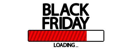Black Friday Sale, progress loading bar design template, vector illustration