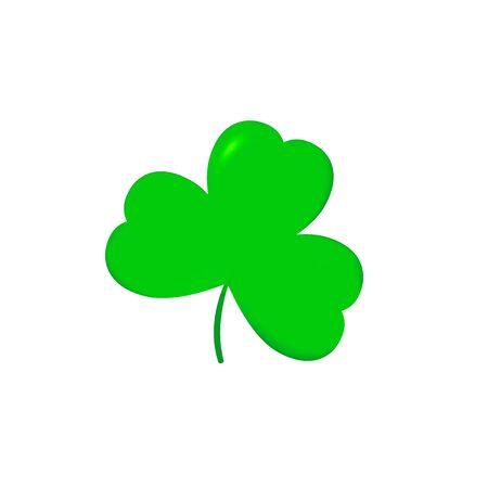 Clover icon, Patricks Day symbol design template, three leaf, vector illustration Illusztráció