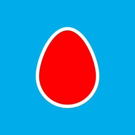 Egg icon, graphic design template, Easter sign, app symbol, vector illustration