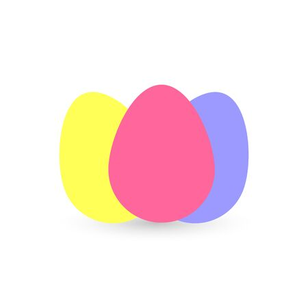 Eggs icon, graphic design template, Easter sign, app symbol, vector illustration