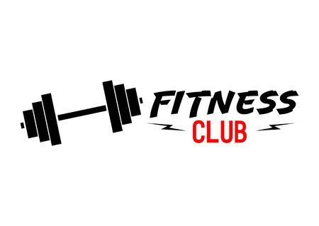 Fitness Gym logo design template, sport club symbol, vector illustration