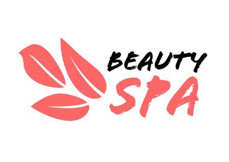 Spa logo design template, beauty salon symbol, vector illustration