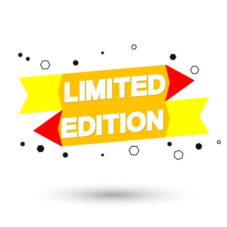 Limited Edition, bubble banner design template, app icon, this weekend only, vector illustration