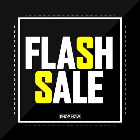 Flash Sale, poster design template, vector illustration