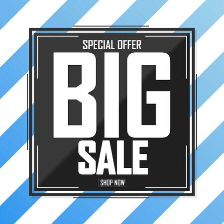 Big Sale, poster design template, special offer, vector illustration