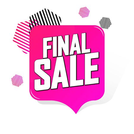 Final sale, banner tag, app icon, vector illustration