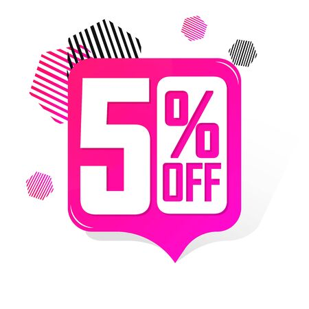 Sale 50% off promotion tag design template, discount speech bubble banner, app icon, vector illustration