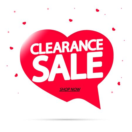 Clearance Sale, promotion tag design template, discount speech bubble banner, app icon, vector illustration