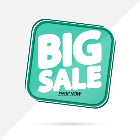 Big Sale, banner design template, discount tag, promotion app icon, vector illustration