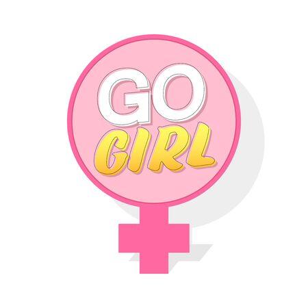 Go Girl, banner design template, vector illustration