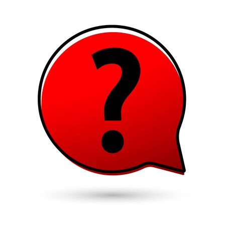 Question mark sign icon. Answer sign symbol. Support speech bubble design template, vector illustration 向量圖像