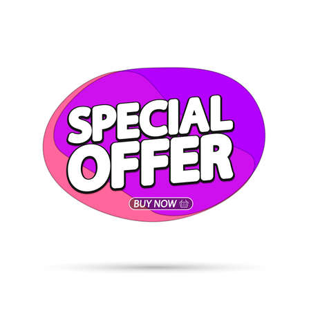 Special Offer, sale bubble banner design template, discount tag, app icon, vector illustration