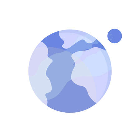 Planet icon, graphic design template, isolated object, vector illustration