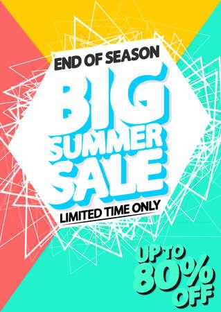 Summer Sale, poster design template, end of season, illustration