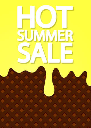 Summer Sale, poster design template, end of season, illustration Illustration