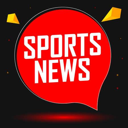 Sport News speech bubble banner design template, vector illustration