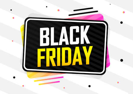 Black Friday Sale, banner design template, discount tag, special offer, don't miss out, app icon, vector illustration