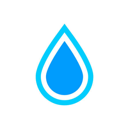 Water drop icon, graphic design template, vector illustration