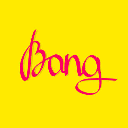 Bang, isolated calligraphy lettering, word design template, vector illustration Vektorové ilustrace