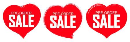 Set Pre-Order Sale banners design template, discount tags, vector illustration Imagens - 167563164