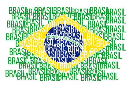 Flag of Brazil, vector illustration Imagens - 167563199
