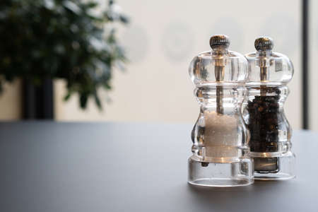 Salt and Pepper Shaker on the table. 写真素材
