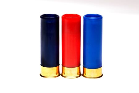 hunting cartridges on a white background photo