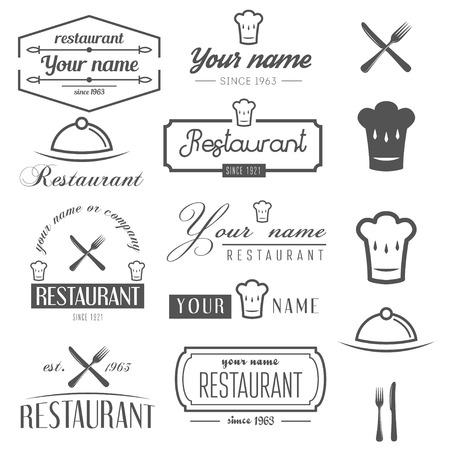 Het verzamelen van en elementen voor restaurant, cafe en een bar