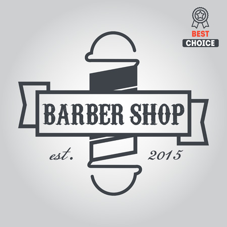 elements badge, emblem for barbershop Illustration