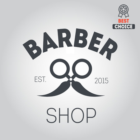 barbershop: elements badge, emblem for barbershop Illustration