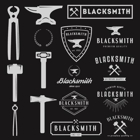 hammer: typographic emblem Illustration