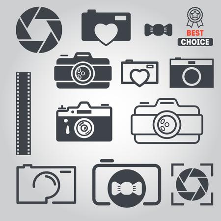 Set van elementen voor foto, web en toepassingen