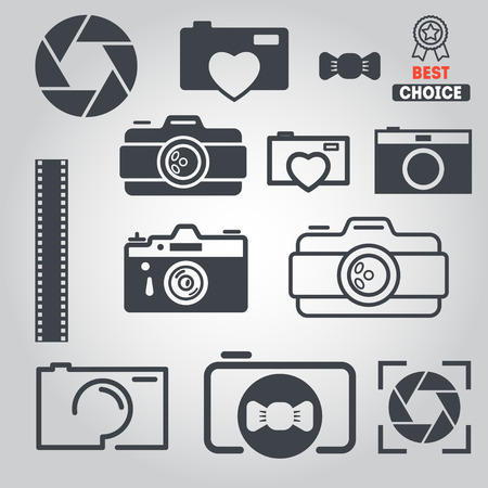 Set of elements for photograph, web and applications