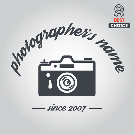 Logo or logotype elements for photograph and studio Illustration