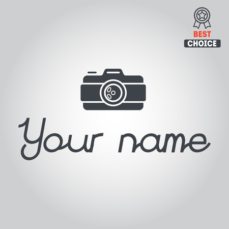 Logo or logotype elements for photograph and studio Vector