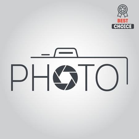 Logo or logotype elements for photograph and studio Stock Illustratie