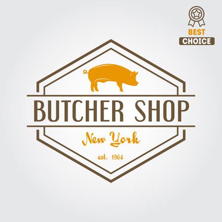 butchers: Vintage label templates  Illustration