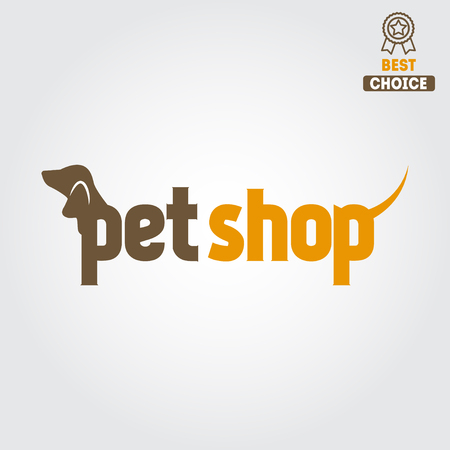 pet services: pet shop or veterinary clinic Illustration
