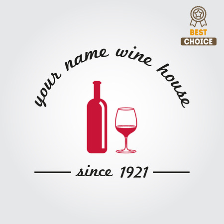 winery: Badge for wine, winery or wine house