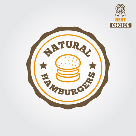 Logo for fast food restaurant, cafe, hamburger and burger Vector