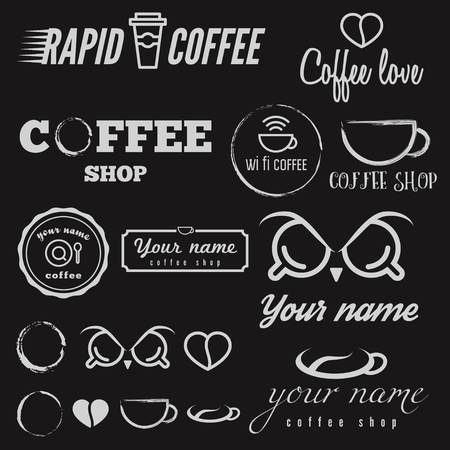 Collection of elements for coffee shop, cafe and restaurant Vector