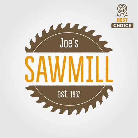 rotary: element for sawmill, carpentry and woodworkers Illustration