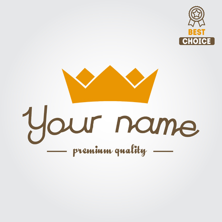 crown logo: Retro Vintage isolated Insignia, logo for different shops